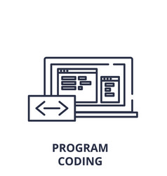 program coding line icon concept program coding vector image