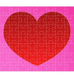 puzzle with red heart vector image