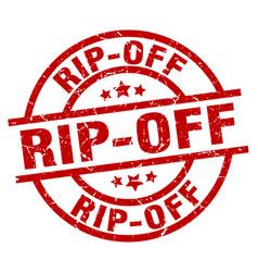 Rip-off round red grunge stamp vector