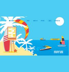 sea activities result water transport rental vector image