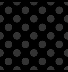 seamless dark pattern with tile grey polka dots vector image