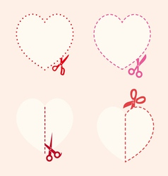 set of cutting scissors Love vector image