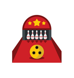 Skittle and ball for bowling in flat style vector