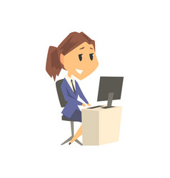 smiling businesswoman character in formal wear vector image