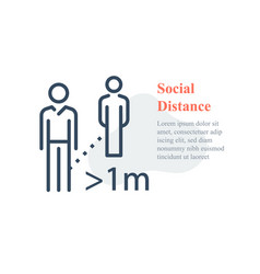 Social distance keep away avoid contact vector