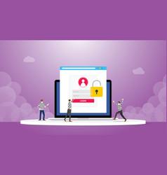 Stealing information data login password phishing vector