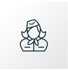 stewardess icon line symbol premium quality vector image