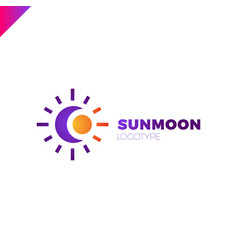 Sun and moon logo abstract vector