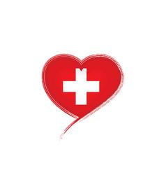 Switzerland flag on a white vector