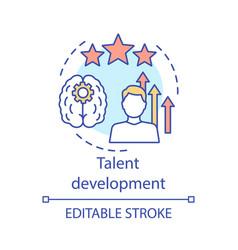 Talent development concept icon vector