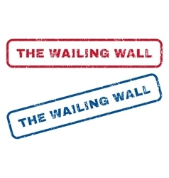 The Wailing Wall Rubber Stamps vector image