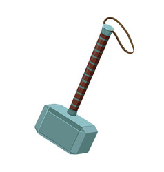 Thor hammer mjellnir mythical weapon thunder vector