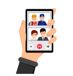 video call family conversation vector image