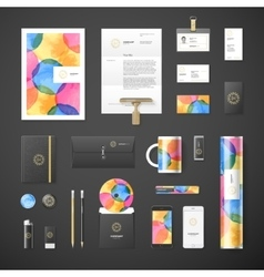 Watercolor corporate identity vector