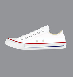 White canvas snickers vector
