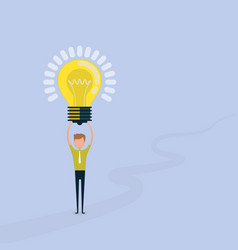 young man icon with light bulb symbolhappy young vector image