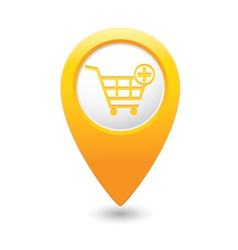 add to basket MAP pointer yellow vector image