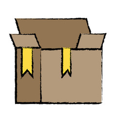 box package object open design vector image vector image
