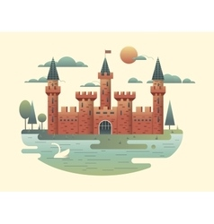 Castle design flat vector image vector image
