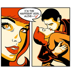 Comics love story vector image vector image