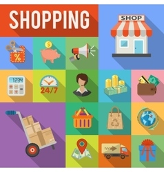 Internet Shopping and Delivery concept vector image vector image
