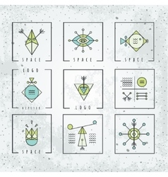 Line shapes geometry polygon style with geometric vector image