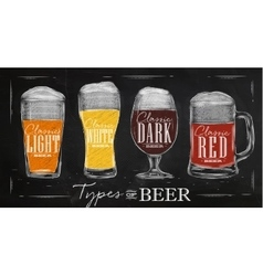 Poster types beer vector image vector image