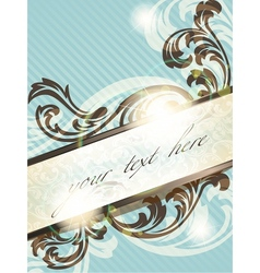 vintage french retro banner vector image vector image