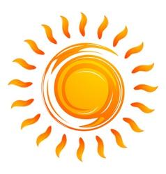 warming sun vector image
