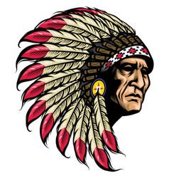 american native chief vector image vector image