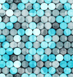 blue circles grunge seamless vector image