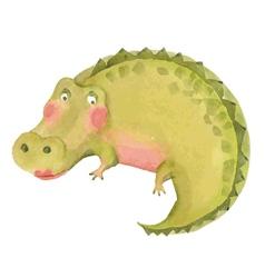Cartoon crocodile vector image