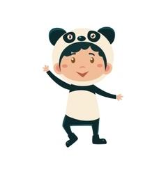 Child Wearing Costume of Panda vector image vector image