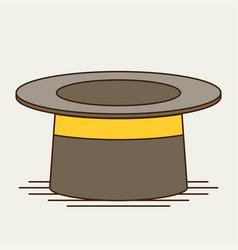 Cylinder gentleman hat vector