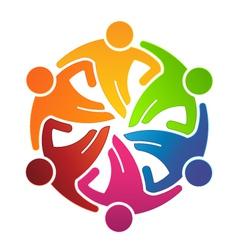 People Team Hugging 6 Logo vector image vector image