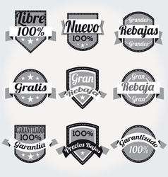 Retro sales free labels vector