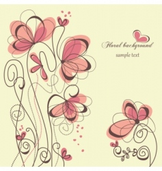 cute floral background vector image vector image