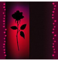 flower rose card vector background vector image
