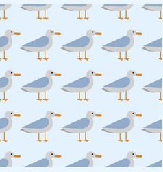 gull flight bird and seabird sea seamless pattern vector image