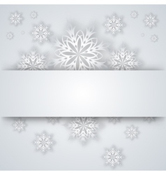 snowflakes and tree on a paper background vector image