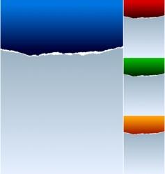 torn paper backdrop vector image
