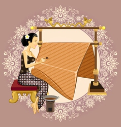 Traditional Indonesian Batik vector image vector image