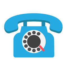 vintage phone flat icon contact us and website vector image vector image