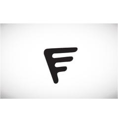 Alphabet letter F black logo icon design vector image