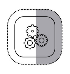 monochrome contour with square sticker with vector image vector image