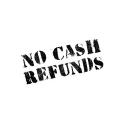 No cash refunds rubber stamp vector