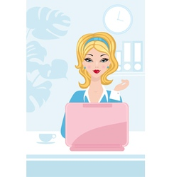 Office beauty vector image