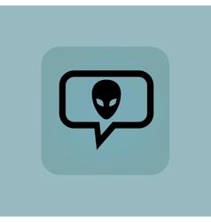 Pale blue alien message icon vector image vector image