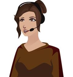 Telephone woman vector