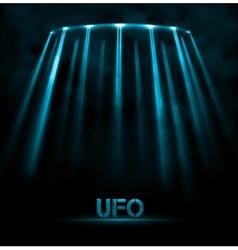 UFO background vector image